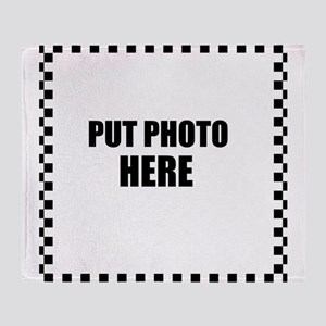 Put Photo Here Throw Blanket