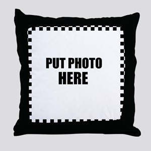 Put Photo Here Throw Pillow