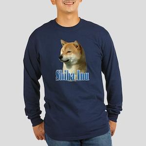 Shiba Name Long Sleeve Dark T-Shirt
