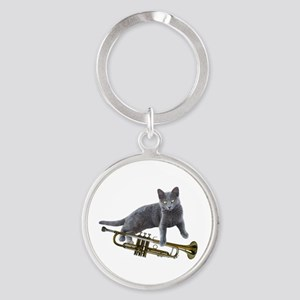 Cat with Trumpet Keychains