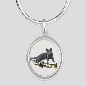 Cat with Trumpet Necklaces