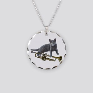 Cat with Trumpet Necklace