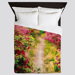 Footpath with azaleas Queen Duvet