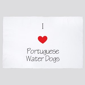 I Love Portuguese Water Dogs 4' X 6' Rug