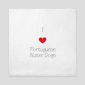 I love Portuguese Water Dogs Queen Duvet
