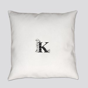 K border Everyday Pillow