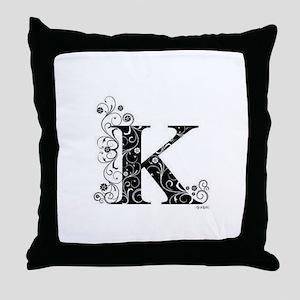 K border Throw Pillow