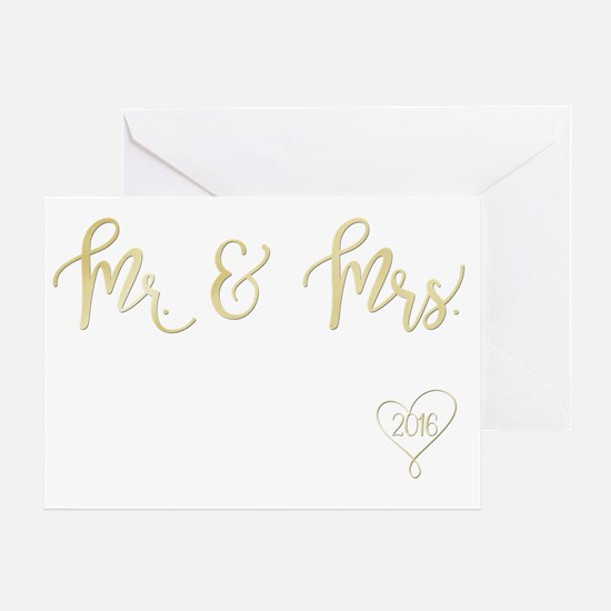 Cute Mr and mrs Greeting Card