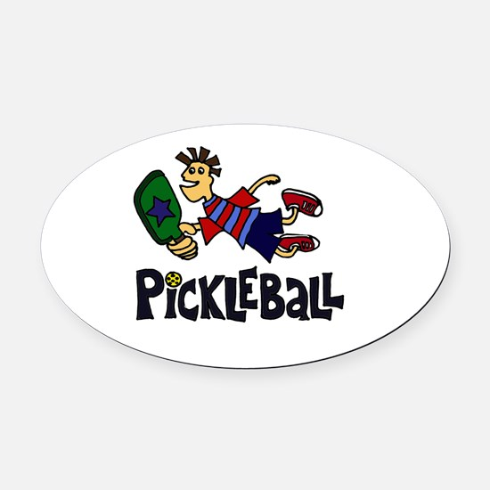 Cool Pickleball Oval Car Magnet