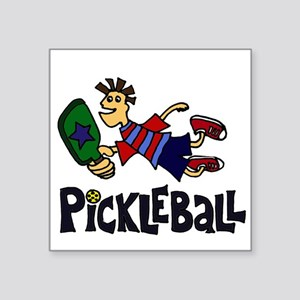 Leaping Pickleball Dude Sticker