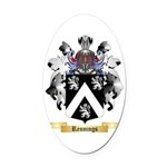 Rennings Oval Car Magnet