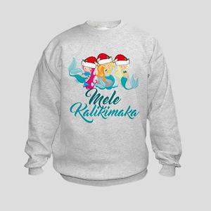 Mele Kalikimaka Mermaid Kids Sweatshirt