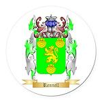 Rennell Round Car Magnet