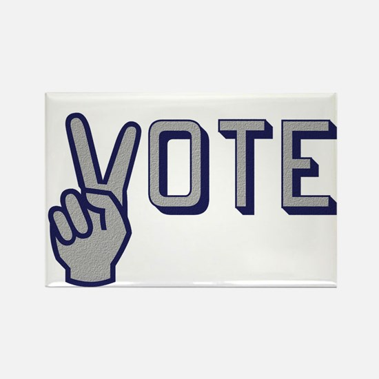 Vote with Peace Sign as the letter V Magnets