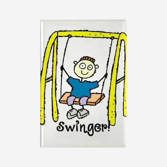 Swinger Swing Set! Rectangle Magnet