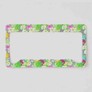 Spring garden License Plate Holder