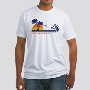 San Clemente California Fitted T-Shirt