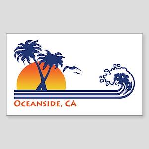 Oceanside California Sticker (Rectangle)
