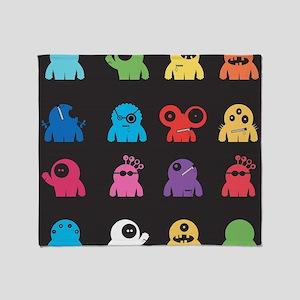 Cute Monsters Throw Blanket