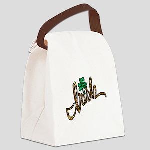 irish clover shamrock Canvas Lunch Bag