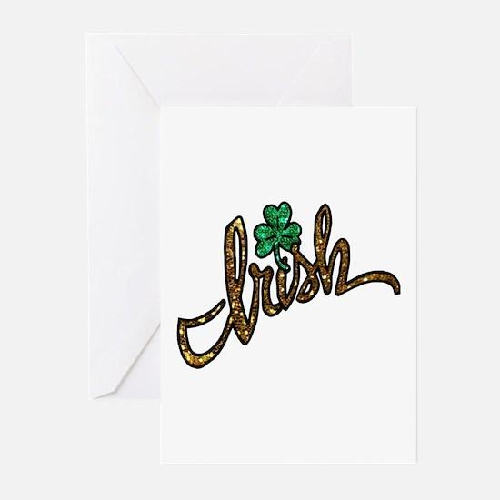 irish clover shamrock Greeting Cards
