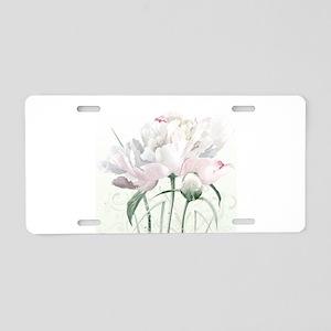 Beautiful Peony Aluminum License Plate