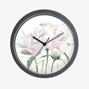 Beautiful Peony Wall Clock