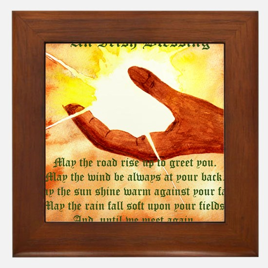 Cute Irish blessing may the road Framed Tile