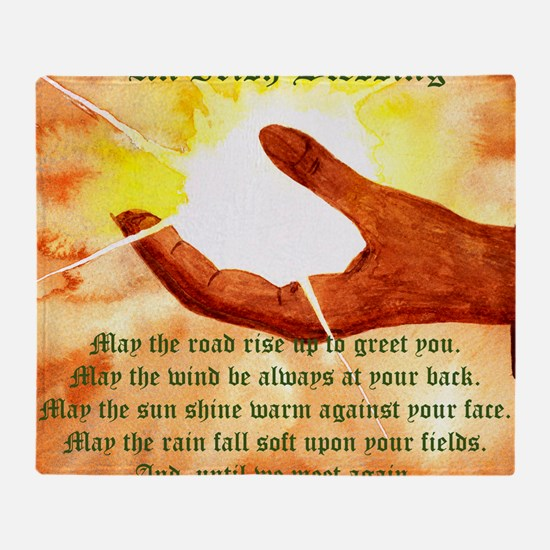 Cute Irish blessing may the road Throw Blanket