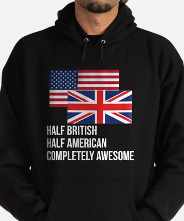 Half British Completely Awesome Hoody