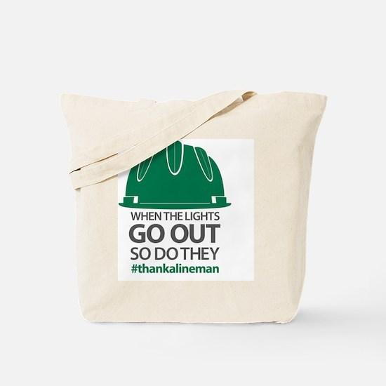 Cool Linemens Tote Bag