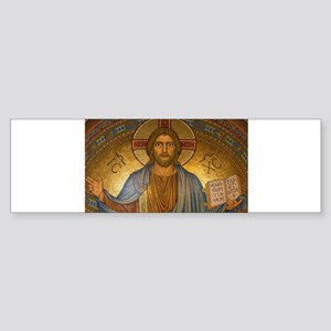 Jesus Christ Vintage Paintng Bumper Sticker