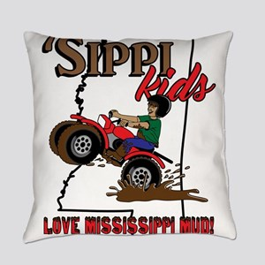 'Sippi Kids <3 Mississippi Mud Everyday Pillow
