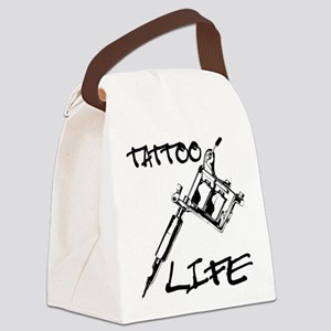 Tattoo Life Canvas Lunch Bag
