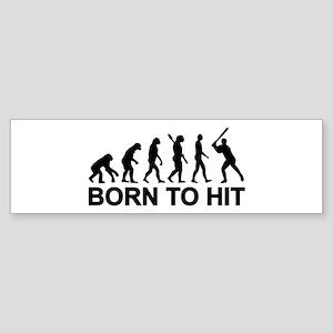 Evolution born to Baseball Sticker (Bumper)