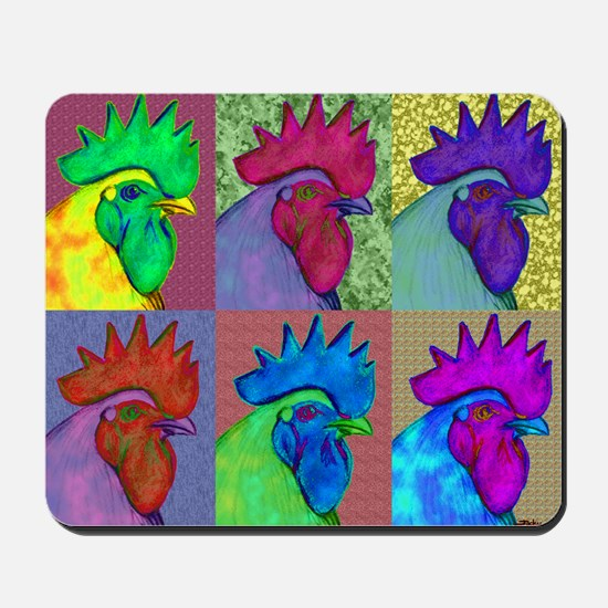 Roosters Gone Wild Mousepad