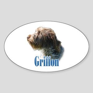 WireGriffName Oval Sticker
