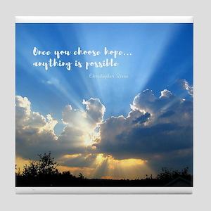 Divine Light Bursting Through Clouds Hope Tile Coa