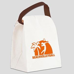 Beachvolleyball Canvas Lunch Bag
