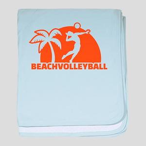Beachvolleyball baby blanket
