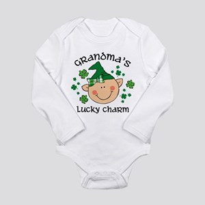 Grandma's Lucky Ch Gir Long Sleeve Body Suit