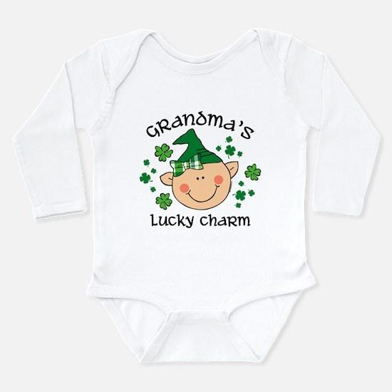 Grandma's Lucky Ch Gir Long Sleeve Body Suit