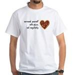 Pizza, Not Negativity White T-Shirt