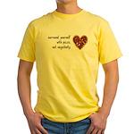 Pizza, Not Negativity Yellow T-Shirt