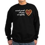 Pizza, Not Negativity Sweatshirt (dark)