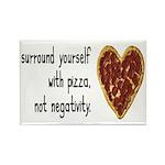 Pizza, Not Negativity Rectangle Magnet