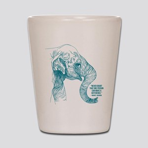 One Can Make A Difference Elephant Shot Glass