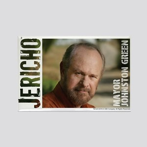Jericho: Mayor Johnston Green Rectangle Magnet