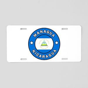 Managua Nicaragua Aluminum License Plate