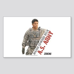 Jericho: Major Edward Beck Sticker (Rectangle)